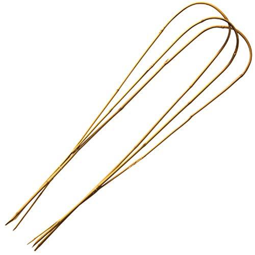 3 Stück Rankhilfe aus natürlichem Bambus – Höhe 60 cm x Durchmesser 8 – 10 mm