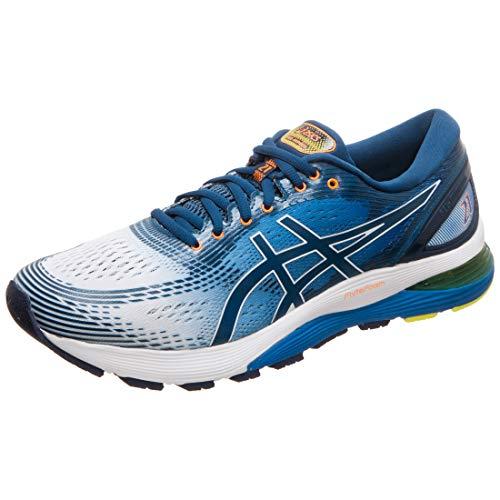 Asics Gel-Nimbus 21, Zapatillas de Running para Hombre, Blanco (White/Lake Drive 100), 42.5 EU