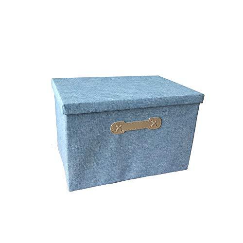 Box Aufbewahrungsbehälter mit Deckeln, faltbaren Speicher Wind, Kleidung sortieren, Spielzeug Lagerung, Schutt Sortierkorb, groß (Color : F)