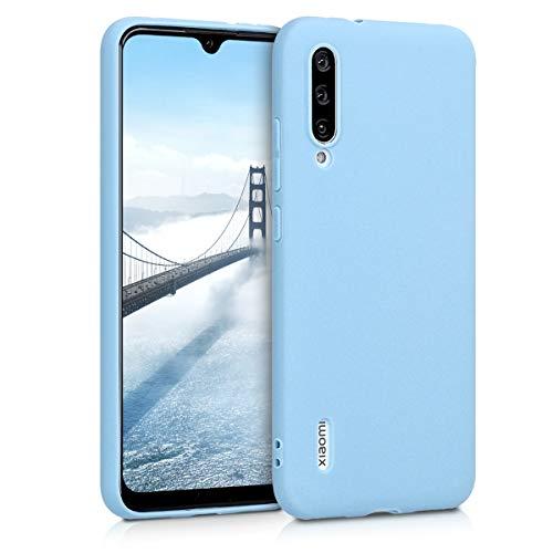 kwmobile Funda Compatible con Xiaomi Mi A3 / CC9e - Carcasa de TPU Silicona - Protector Trasero en Azul grisáceo