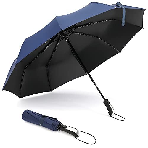 Teimose Umbrella Windproof 10 Ribs Automatic Compact Folding Umbrellas with...