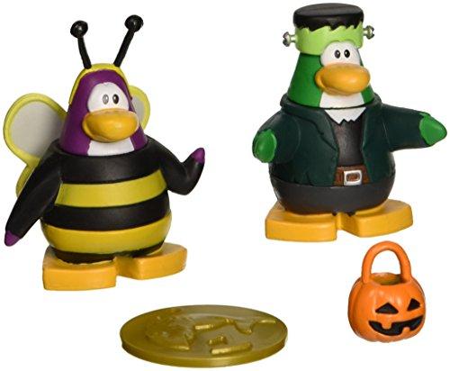 Disney Club Penguin - Juego de figuras de 2 pulgadas (2 pulgadas), diseño de abeja y pingüino