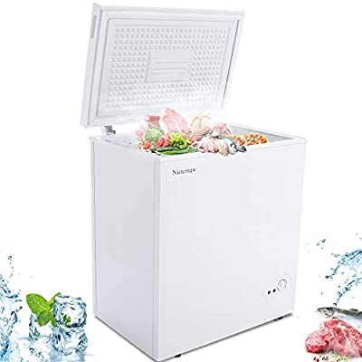 Amazon - Save 35%: Compact Freezer ,5.3 Cu.Ft Mini Freezer with Removable Basket&Adjus…