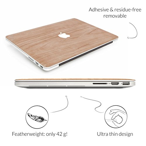 Woodcessories - Skin kompatibel mit MacBook 13 Air & Pro (bis 2016) aus Holz - EcoSkin (Kirsche)