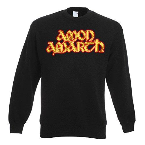 LaMAGLIERIA Unisex-Sweatshirt Amon Amarth Fire Logo - Set-In Sweatshirt, L, Schwarz