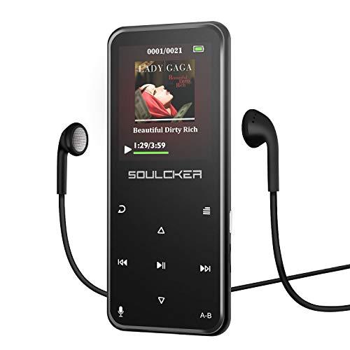 Reproductor MP3, Reproductor de Música MP3 Portátil Bluetooth 8G, Reproductor de Música MP3 con Radio FM/grabadora de Voz, Soporte Ampliable hasta 128 G, Auriculares y Brazalete Deportivo Incluido