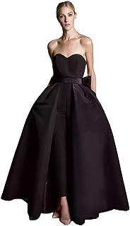 VeraQueen - Vestido de noche con falda desmontable para muje