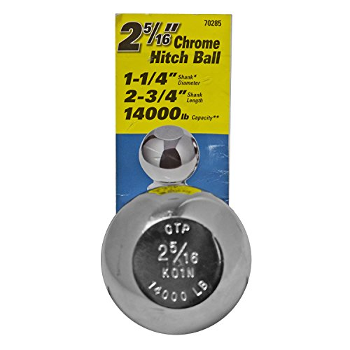 Best Bargain Reese Towpower 2 5/16 Chrome Hitch Ball for Step Bumpers 70285