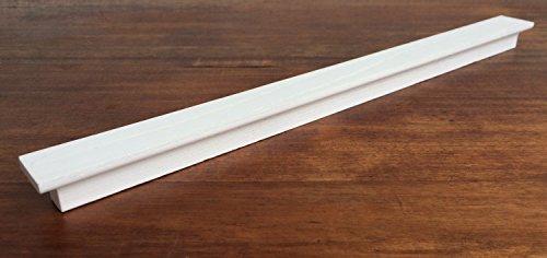 Tirador moderno para cajones, armarios, muebles de cocina de madera con acabado en color blanco con las vetas y la distancia entre los agujeros 320 mm, modelo 846
