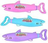 Queta 3pcs Pistolas de Agua para Niños Cañón de Agua en Forma de Tiburón, Pistola de Agua de Alta Presión Extraíble, Juguetes de Juego en Agua para Verano Playa Piscina Rafting