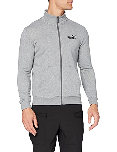PUMA ESS Track Jacket TR Sweatshirt, Hombre, Medium Gray Heather, M