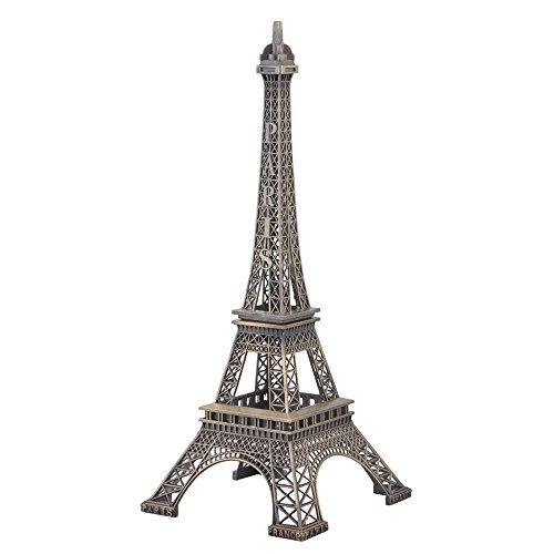 FRE 32cm Métal Paris Tour Eiffel modèle de bâtiment pour Sculpture Maison Décoration Collection
