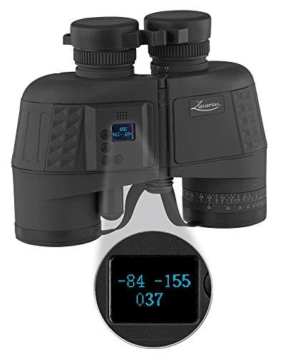 Zavarius Entfernungsmesser: Wasserdichtes Marine-Fernglas 7x50 mit OLED-Display, 91% Transmission (Fernglas mit Kompass)