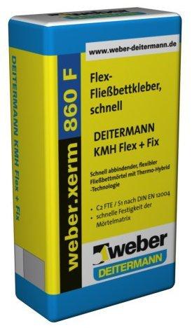 weber.xerm 860 F, 25kg - Flex-Fließbettkleber, schnell