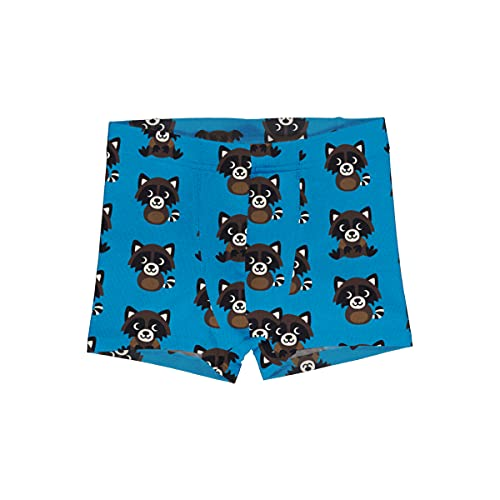 Maxomorra Kinder Unterhose mit Waschbären Boxer Shorts Racoon (122-128)