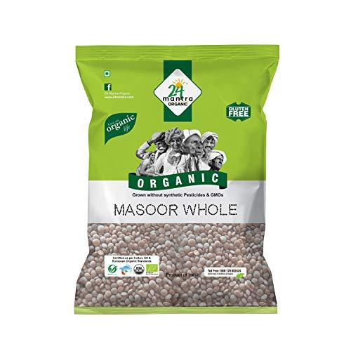 24 MANTRA Organic Masoor Whole, 500g X 2 Pieces