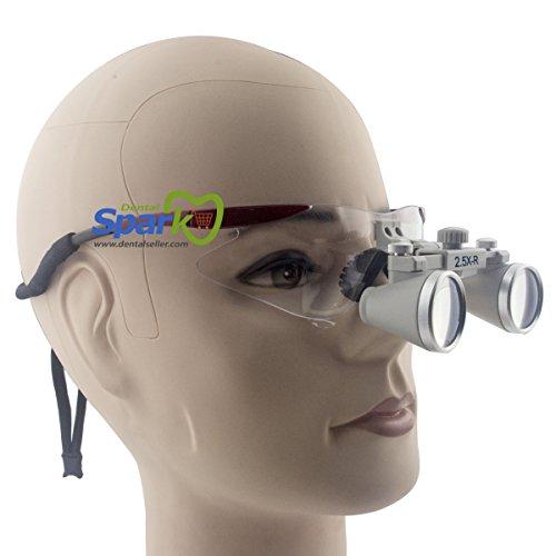 Spark 眼鏡式ヘッドルーペ 2.5倍歯外科手術手作業専用 レッド スポーツフレーム 製作 機械 作業 生物研究 開発 手術 歯科 医用 医者 眼科 外科にも使える 拡大鏡 虫眼鏡 双眼ルーペ 時計見ルーペ