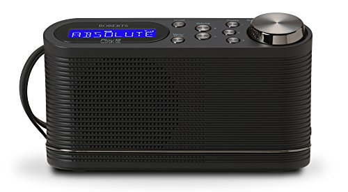 Roberts Radio Play10 DAB/DAB+/FM Digital Radio with Simple Presets - Black