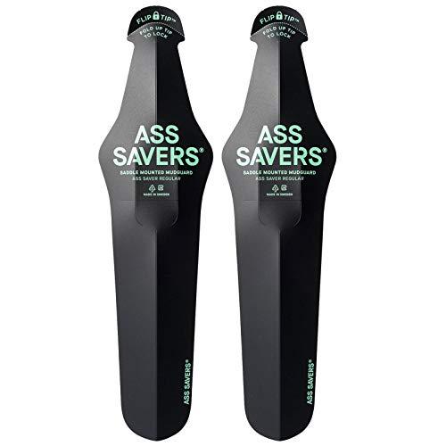 ASS SAVERS Regular Saddle Mounted Mudguards (Pair) - Black