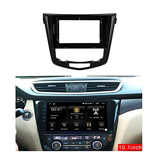 zhuzhu 2din Coche Radio Fascia Marco Android GPS Panel Dash Frame Kit Fit para Nissan X-Trail X Trail 3 T32 2014-2018 (Color Name : Black)