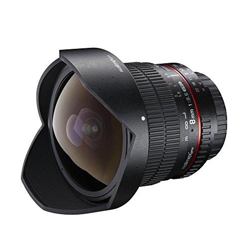 Walimex pro 8mm F3.5 Fisheye für Nikon F - Weitwinkel Fish Eye Festbrennweite manueller Fokus, Objektiv für Nikon-F Mount Kamera Nikon D7500 D7200 D7100 D500 D3500 D3400 D5600 D5300 D5200 D300