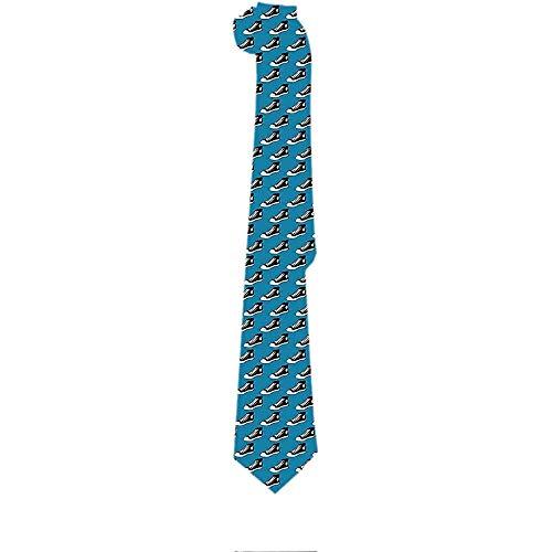 Corbata para hombre Zapatos en blanco y negro Zapatillas de deporte Corbatas clásicas Corbatas de regalo únicas Tejido jacquard para fiesta de bodas de negocios