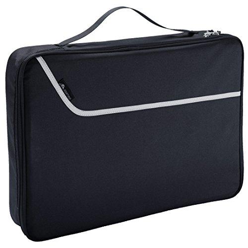 Alpamayo Hemdentasche, Business Kleidersack für knitterfreie Hemden und Krawatten auf Reise, Transport im Koffer, Trolly oder Reisetasche, schwarz