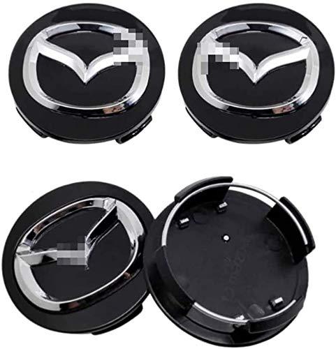 4 Piezas Coche Centro De Rueda Tapas centrales para Mazda Atenza Speed MX3 CX3 CX5, Rueda Emblema Logo Insignia Llantas centrales Emblema Accesorios