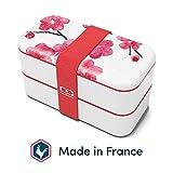 monbento - MB Original Graphic Blossom bento Box Bleu Made in France - Lunch Box hermétique 2...