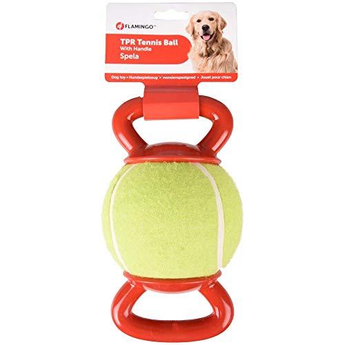 FLAMINGO - Balle de Tennis avec 2 poignées ø 13 cm pour Chien - FL-518650