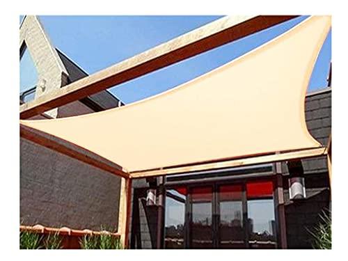 LIUNA Tela de protección solar rectangular, impermeable, protección UV, toldo para toldo para exteriores, diseño de jardín de pabellón de 4 cornes (tamaño: 4 x 8 m)