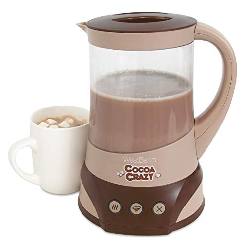West Bend CL50032 Cocoa Crazy Hot Drink Maker for Instant Chocolate Coffee and Tea with Perfect Temperature Feature, 32-Ounce, Brown