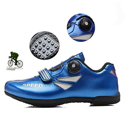NNZZY Men's Cycling Shoes Road Bike Shoes Non-Locking Rotative Closure Adjustable Hard Bottom Shoe Breathable Wearresistant MTB Biking Accessories Self-Locking Footwear,38