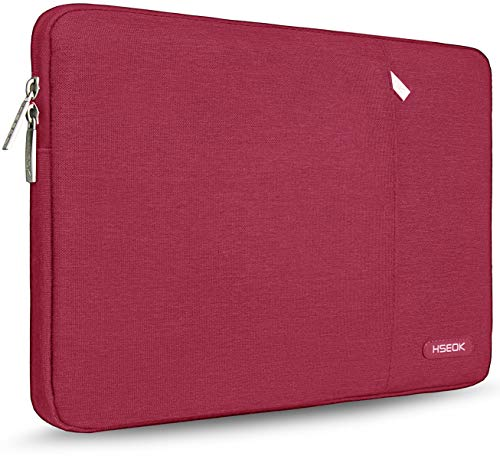 HSEOK 15,6 Zoll Laptop Hülle Tasche,Stoßfeste Wasserdicht PC Sleeve kompatibel mit die meisten 15,6 Zoll Laptops Dell/HP/Lenovo/Acer/Asus, Weinrot