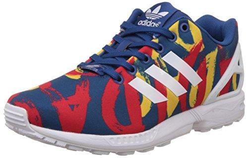Adidas ZX Flux W, Zapatos de Cordones Hombre, BLU (Bleu (Dark Marine/White/White), 38 EU
