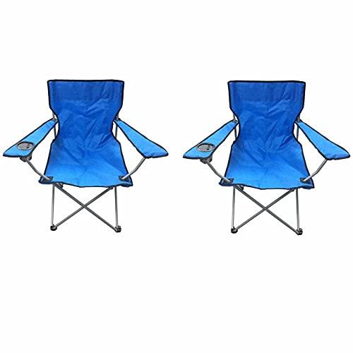 QAZW Silla de Camping de Tubo de Hierro Ligero para Actividades Al Aire Libre Sillas de Picnic Plegables Sillas de Camping Plegables de Pesca,Blue