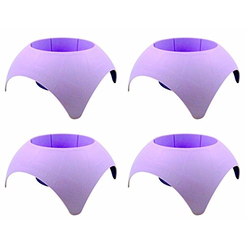Beach Vacation Accessory Turtleback Sand Coaster Drink Cup Holder, Pack of 4 (Lavender)