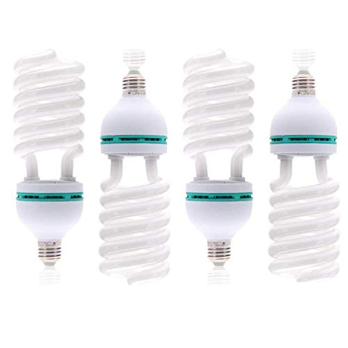 LimoStudio [4 Pack] 85W 6500K CFL, Compact Fluorescent Light Bulb for Photography Studio, Day Light Balanced Pure White, AGG120