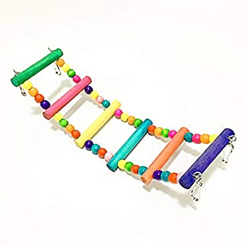 Escabeau rotative à 4 marches en bois coloré pour perroquet 31 cm