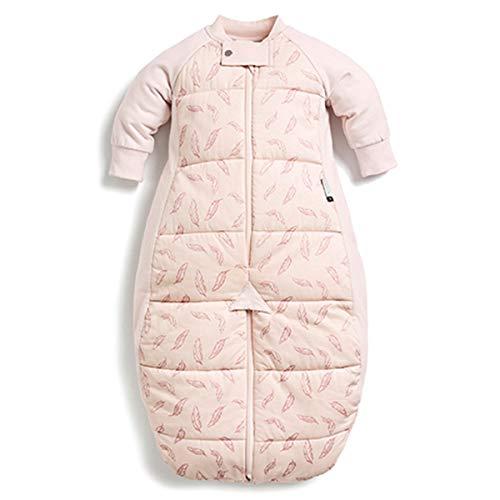 ergoPouch Schlafsack Baby Babyschlafsack Mit Füßen Langarm Winter - 100% Bio Baumwolle - Tog 2.5 - Pink - 2-4 Jahre