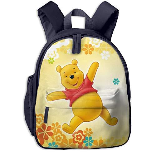 JKSA Cartoon Anime Winnie The Pooh Kinderrucksäcke Schultaschen für Jungen & Mädchen Vorschultasche Niedlicher Cartoon-Rucksack Größe für Kindergarten, Vorschule