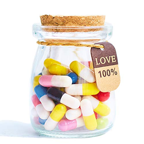 Boyfriend Gifts Message in a Bottle Capsule Letter 50 Pcs Message Pills Love Letter Cute Gifts for...