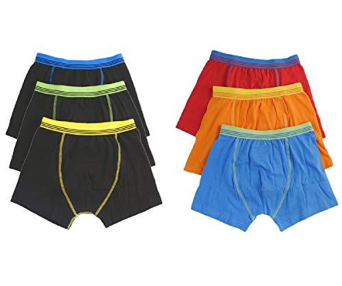 Palleon 6er Pack Boxershorts Jungen | Boxer Pants Kinder Retroshorts 110-116 / m
