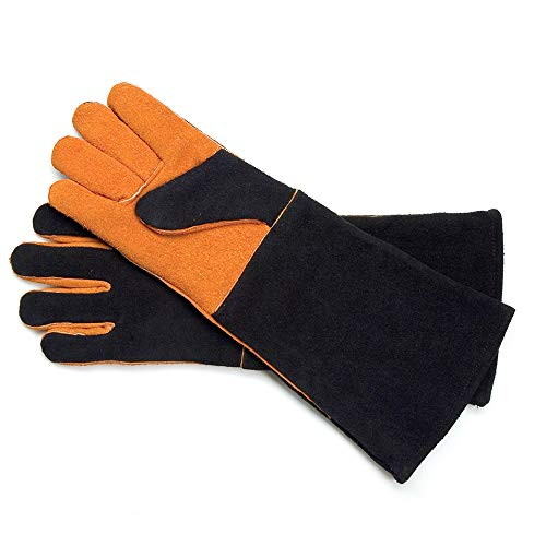 Extra Long Suede Grill Gloves (Pair)