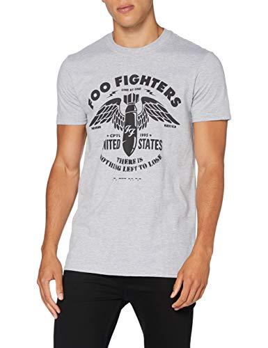 Sconosciuto Foo Fighters FOOTS05MG02 - Maglietta Grigia, Taglia M