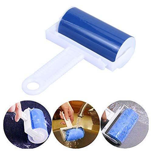Rapoyo Wiederverwendbarer Staubentferner Haustierhaar-Reinigungsrolle Klebrige Fusselrolle für das Auto zu Hause waschbar