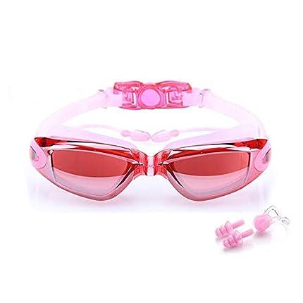 BEEWAY Gafas de Natación - Antivaho, Sin Fugas y Protección UV para Unisex Adultos Niños - Rosa