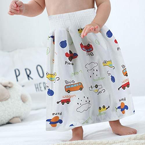FinWell Leak-Proof Children Diaper Skirt Shorts Waterproof Super Absorbent Washable Comfy Baby Diaper Skirt Pants
