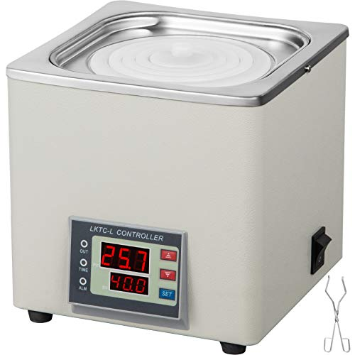 VEVOR Water Bath BHS-1 300W,Heating Thermostatic Water Bath 3L,Stainless Steel Tank Water Bath,Laboratory for Distillation Drying Biological Accuracy Constant Heated Water Bath(BHS-1)