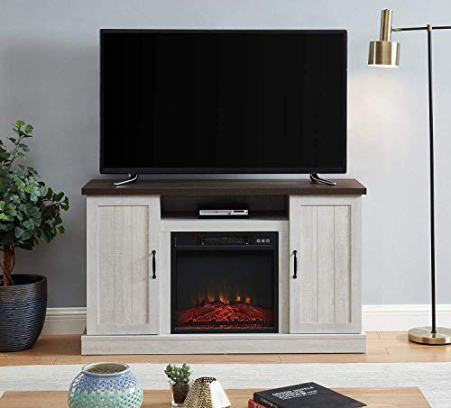 white fireplace with storage - 3